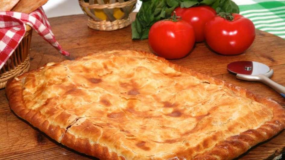 Imperdible: pizza rellena con champiñones