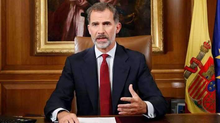 Rey de España se dirigirá al país en plena crisis catalana
