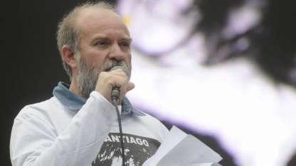 Sergio Maldonado, durante una de las protestas.