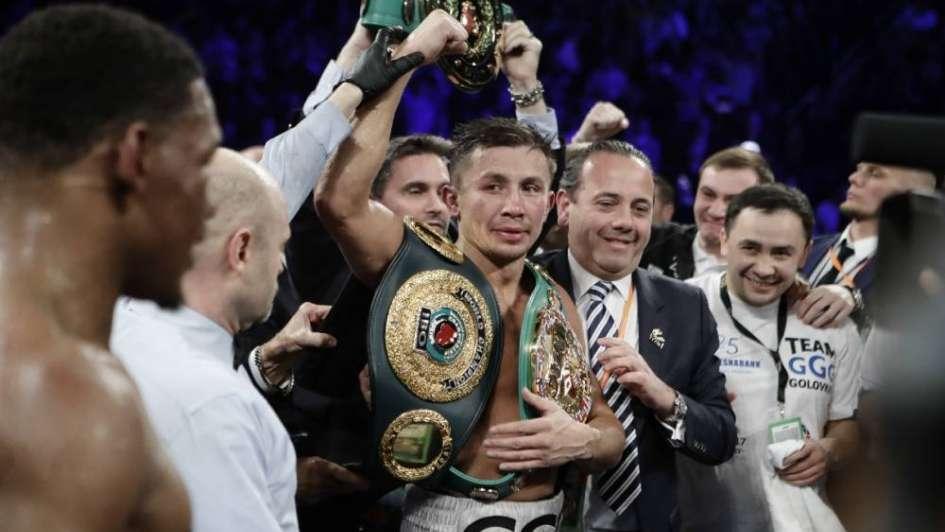 Gennady Golovkin se quedó con todos los cinturones al derrotar a Daniel Jacobs