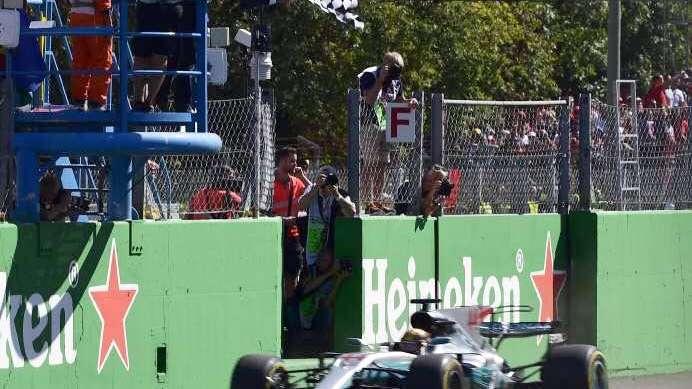 Hamilton se impuso en Monza