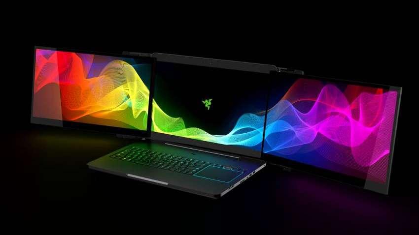 ¿Fanático de los videojuegos? Razer lanza una notebook con tres pantallas