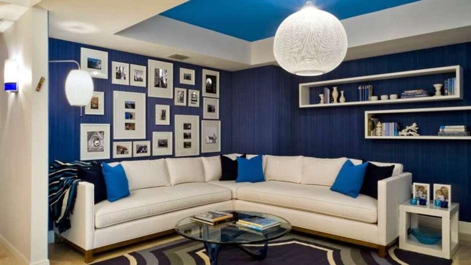 Ideas originales para decorar tu living en azul - photo#26