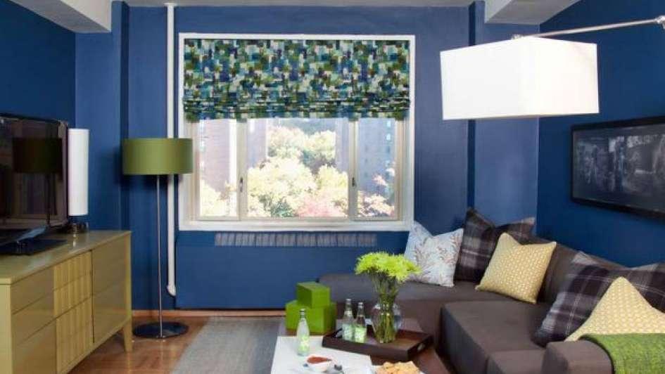 Ideas originales para decorar tu living en azul for Ideas originales para decorar