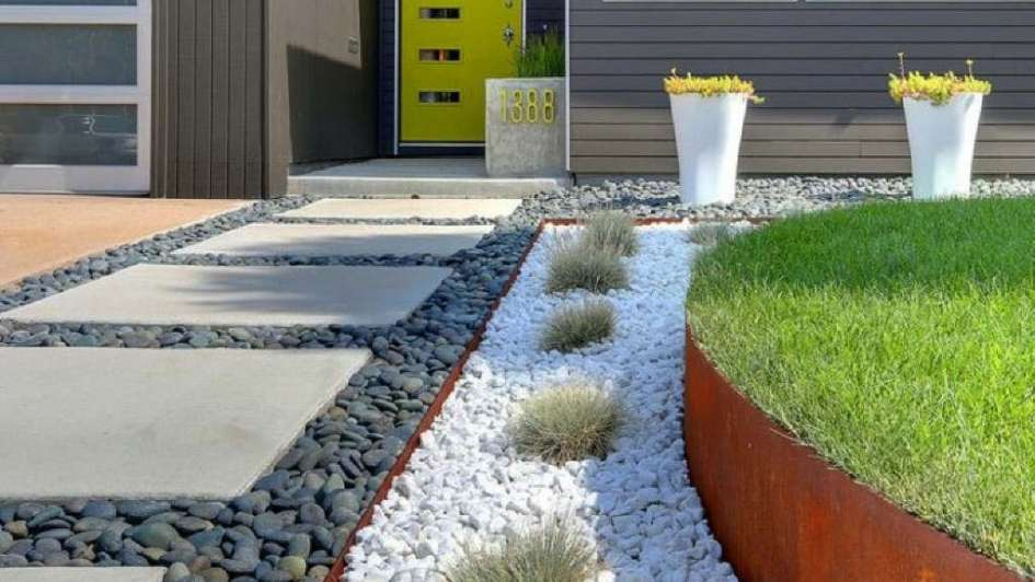 Jardines piedra y madera para un verde especial for Banquitas de madera para jardin