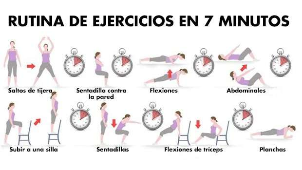 de 10 ejercicios para hacer en casa