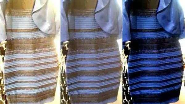 Vestido azul y negro experimento