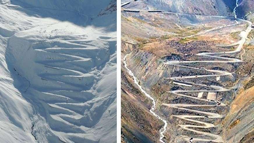 La impresionante foto de Los Caracoles nevados que se hizo viral