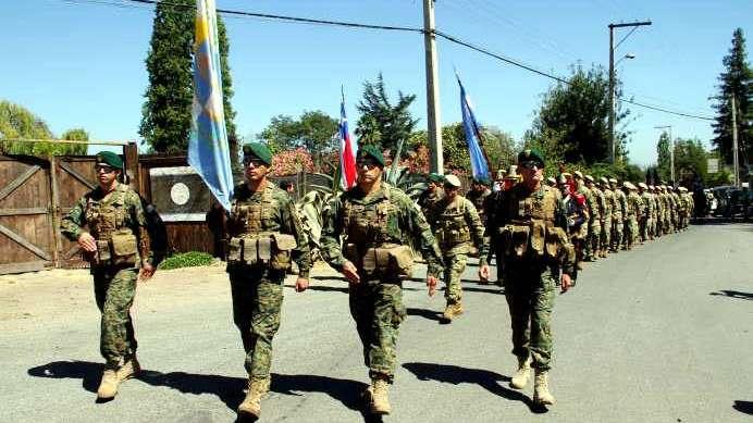 Culmina hoy la recreación de militares argentinos y chilenos