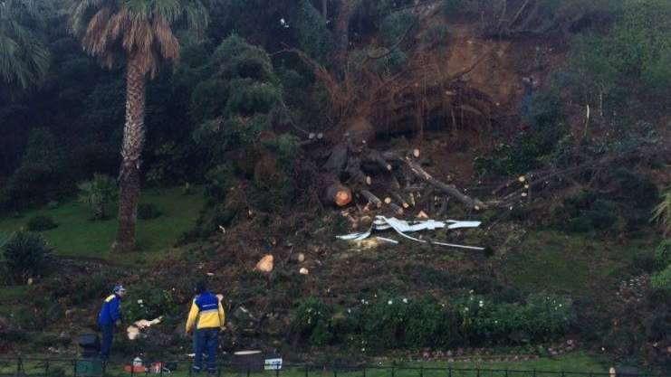 Las feroces tormentas en Chile destrozaron el reloj de Viña del Mar