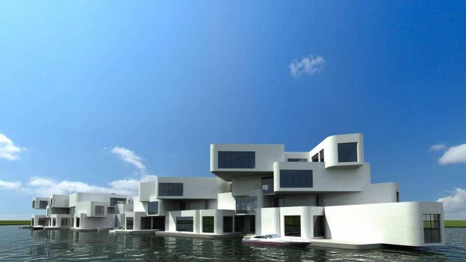 Arquitectura moderna casas en el agua for Casa holandesa moderna