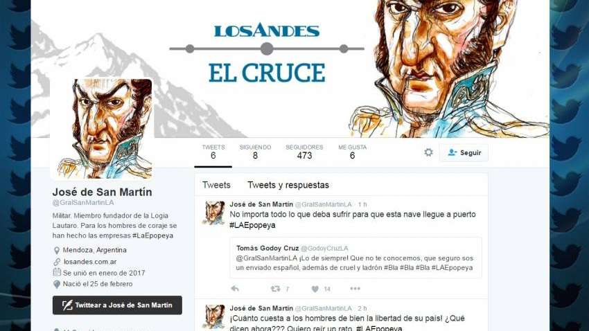 Los próceres tuitean para Los Andes y cuentan el día a día de la gesta libertadora