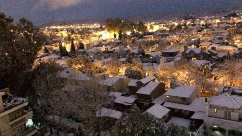 Nevó en toda la provincia y se esperan heladas