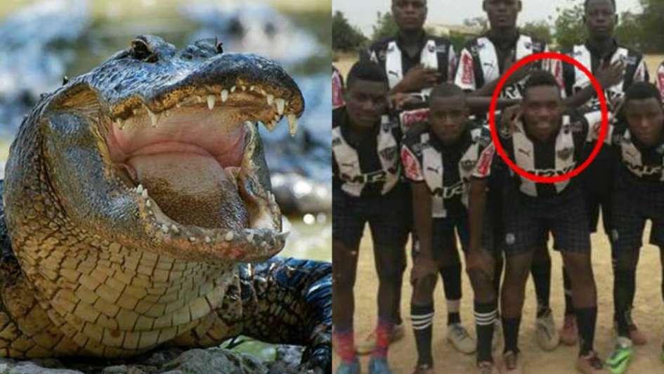 Un futbolista jugaba a la pelota cerca de un río y lo mató un cocodrilo