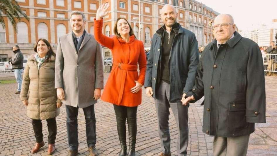 Escracharon a María Eugenia Vidal cuando anunciaba el Metrobús en Mar del Plata