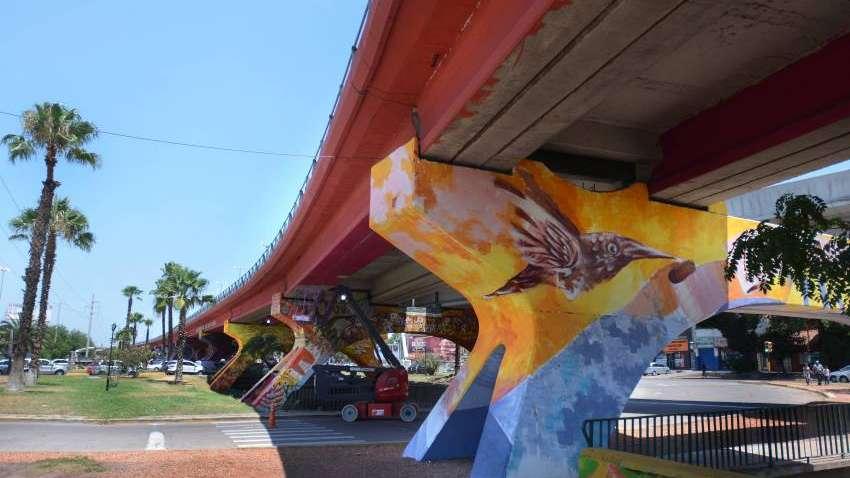 La gesta sanmartiniana, en murales del nudo vial
