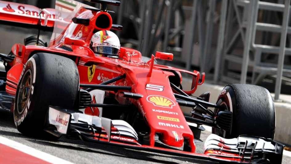 Sebastian Vettel marcó el ritmo