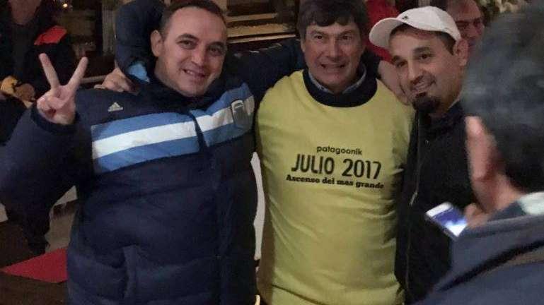 El vicepresidente de la Lepra estuvo en los festejos del ascenso de Mitre