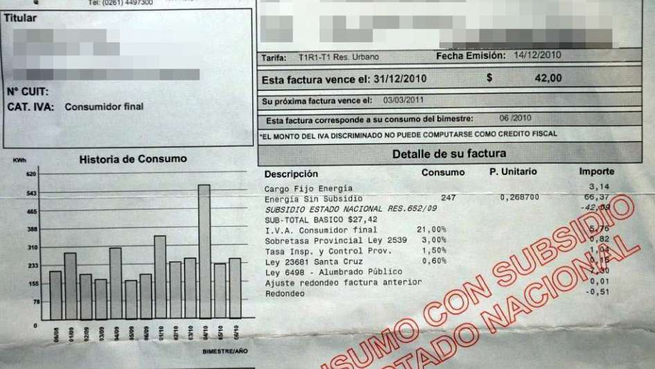 c4294f1410 Luz: Mendoza y la Nación prevén reactivar el recorte de los subsidios