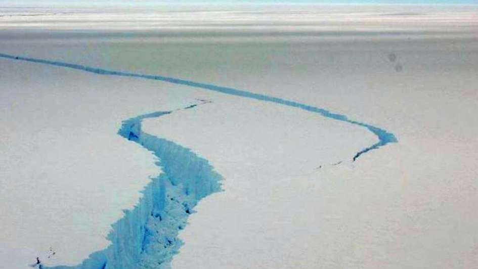 La grieta del iceberg es del tamaño de Tupungato y Tunuyán juntos