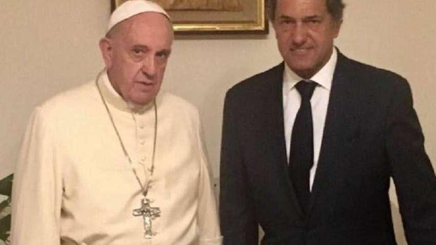 Daniel Scioli tuvo una audiencia privada con el Papa Francisco