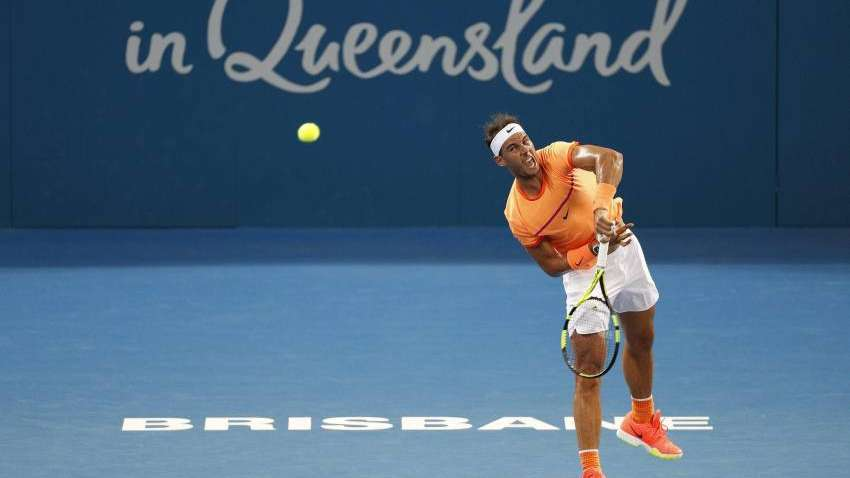 Nadal no pudo con la potencia de Raonic y se despidió del ATP 250 de Brisbane