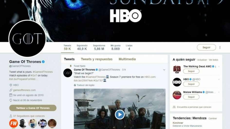 El estreno de la nueva temporada de Game of Thrones casi rompe Twitter