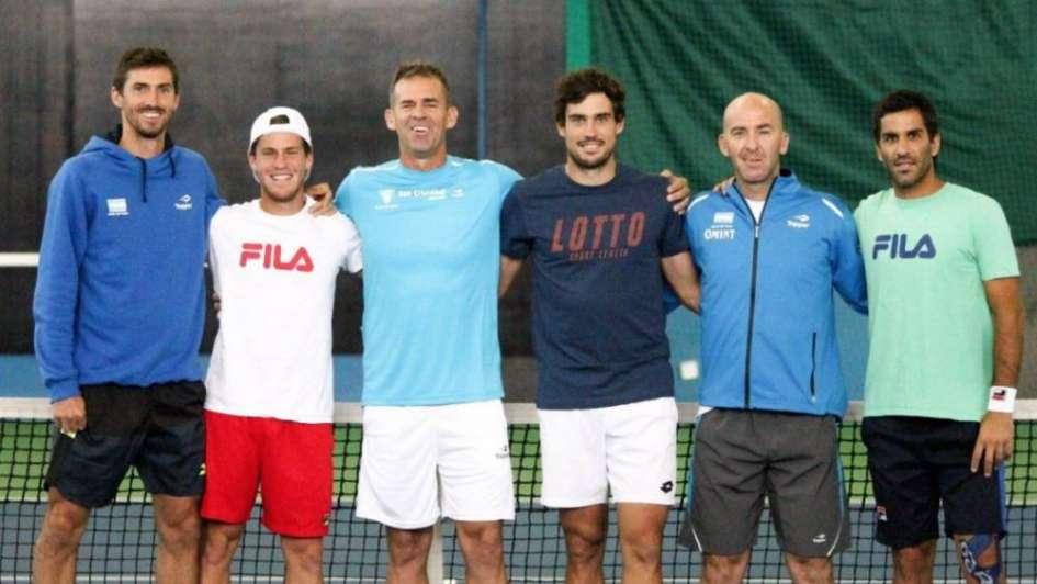 El equipo argentino de Copa Davis se entrenó en la cancha de Astana