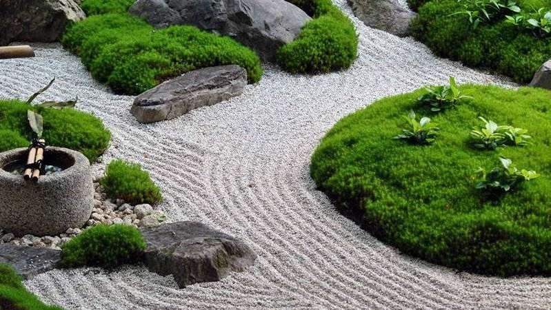 Cre un jard n zen en tu casa para relajarte y meditar - Arena para jardin zen ...