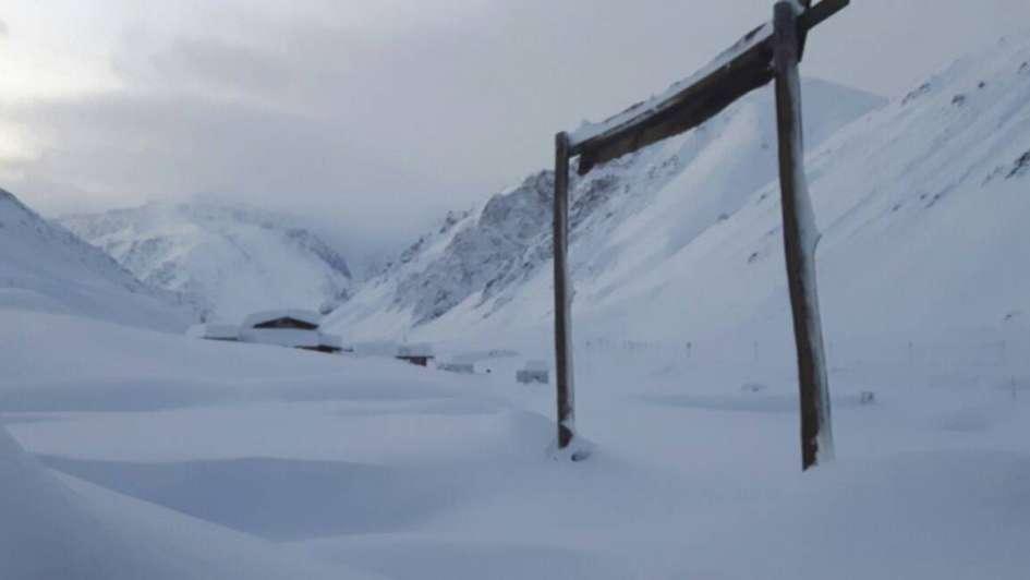 Así amaneció el parque de nieve Los Puquios, uno de los atractivos de esta temporada