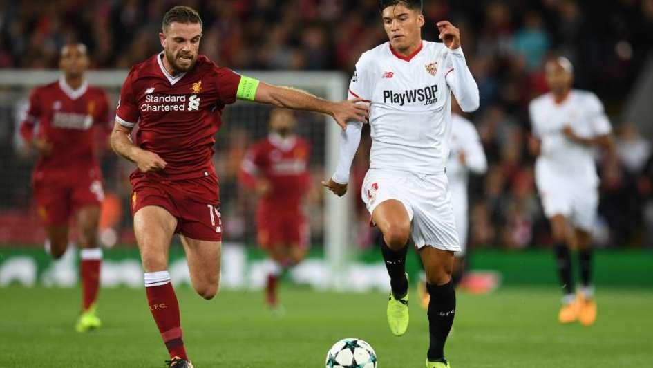 El Sevilla debutó en la Champions con un empate en su visita a Liverpool