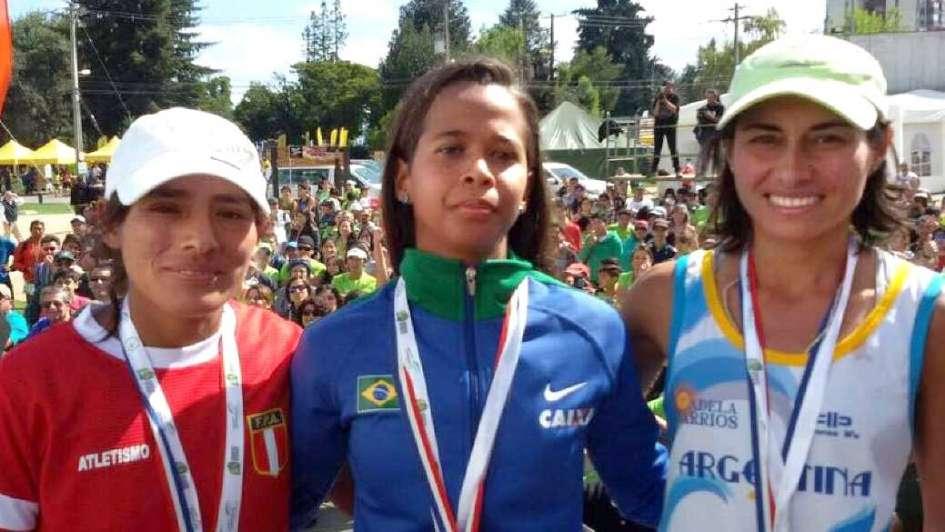 Adela Barrios, bronce sudamericano en maratón