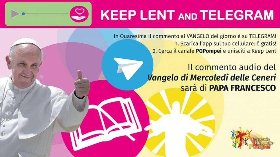 Miércoles de ceniza: Francisco comenzó a evangelizar por Telegram