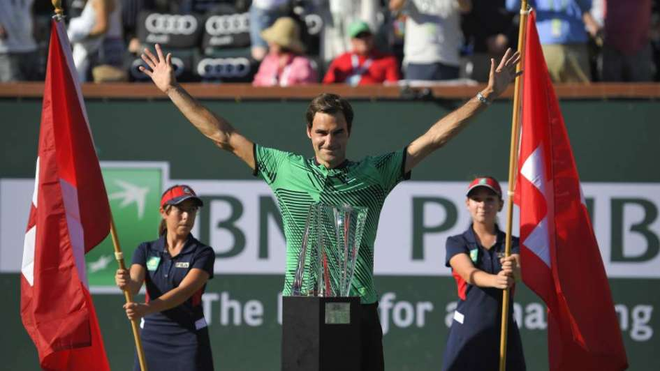 Para aplaudir de pie: el interminable Federer se consagró en Indian Wells