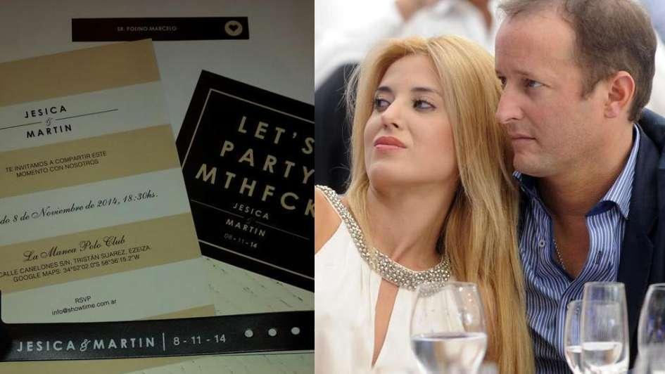 Así es la invitación de casamiento de Jésica Cirio y Martín Insaurralde