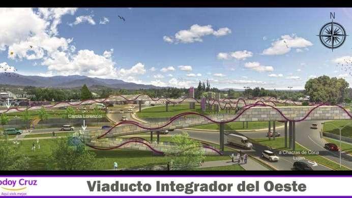 Un viaducto para ciclistas y peatones en Godoy Cruz sobre el Corredor