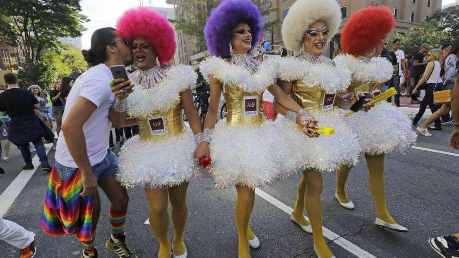 Marcha del orgullo gay en Brasil