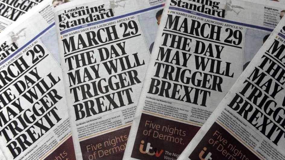 Brexit: el adiós a la UE se inicia el 29 de marzo