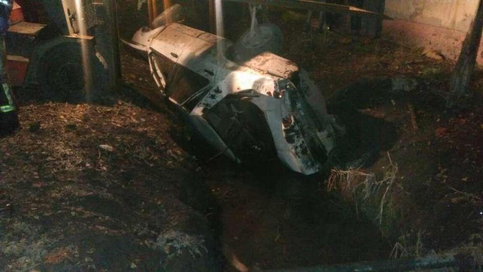Un hombre murió tras caer en un zanjón con su auto en Guaymallén
