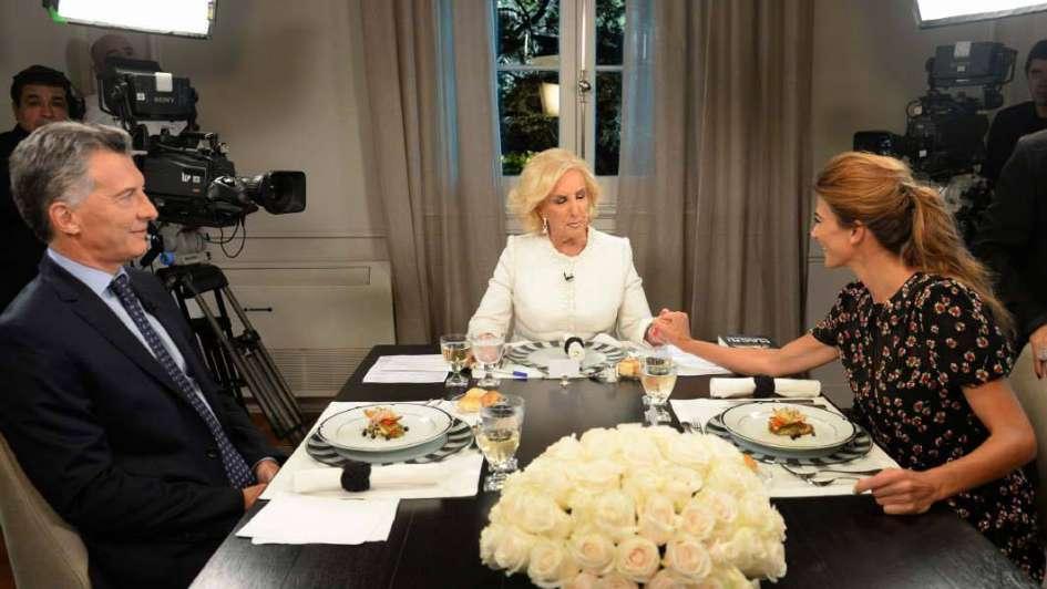 Macri defendió su gobierno en la mesa de Mirtha