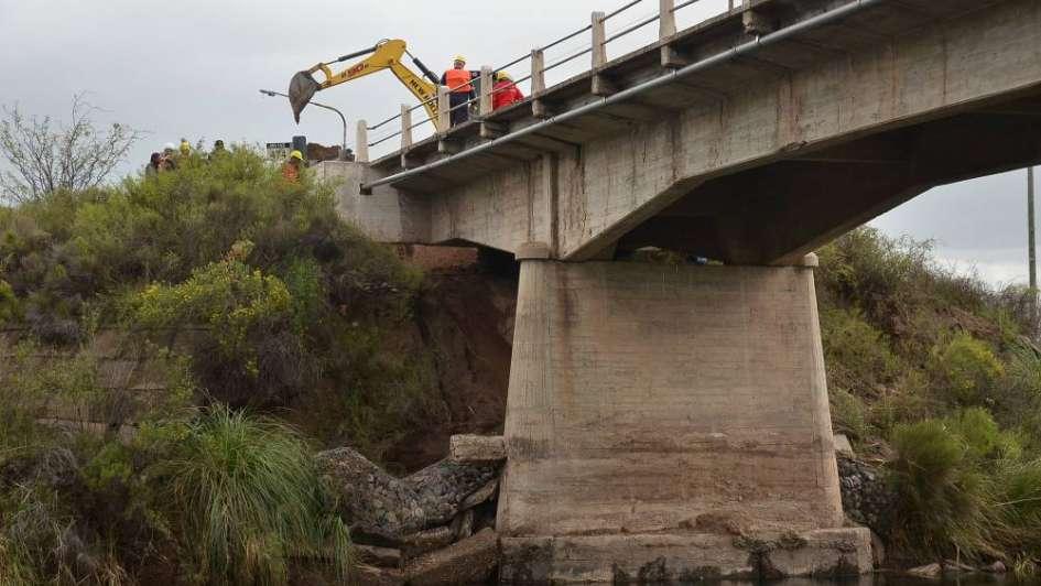 San Rafael: otra vez cedió un terraplén en puente sobre la ruta 143