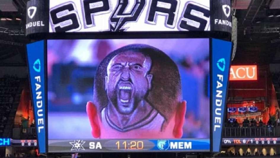 Locura Ginóbili: mirá cómo un hincha de los Spurs se tatuó la cabeza