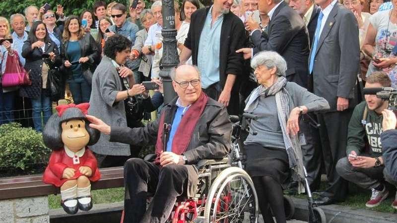 Quino celebra en familia sus 85 años