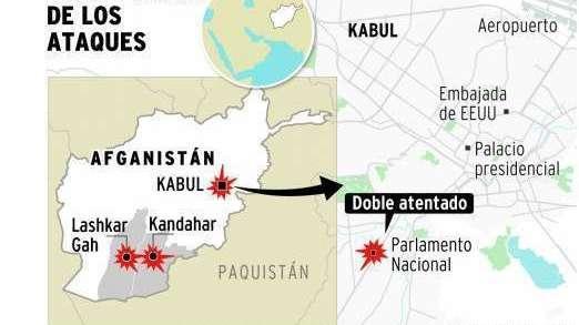 Afganistán: 30 muertos frente al Parlamento