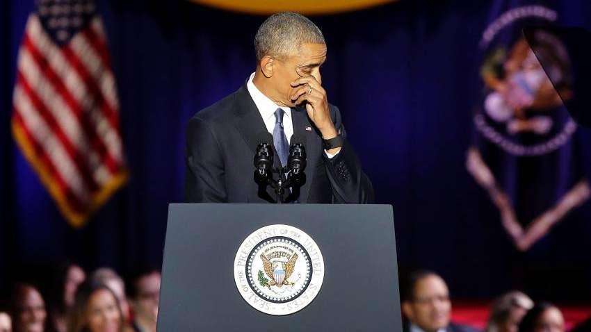 Obama se quebró al dar su último discurso público: