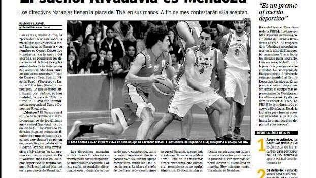 Rivadavia jugará en la segunda categoría del Básquet Nacional