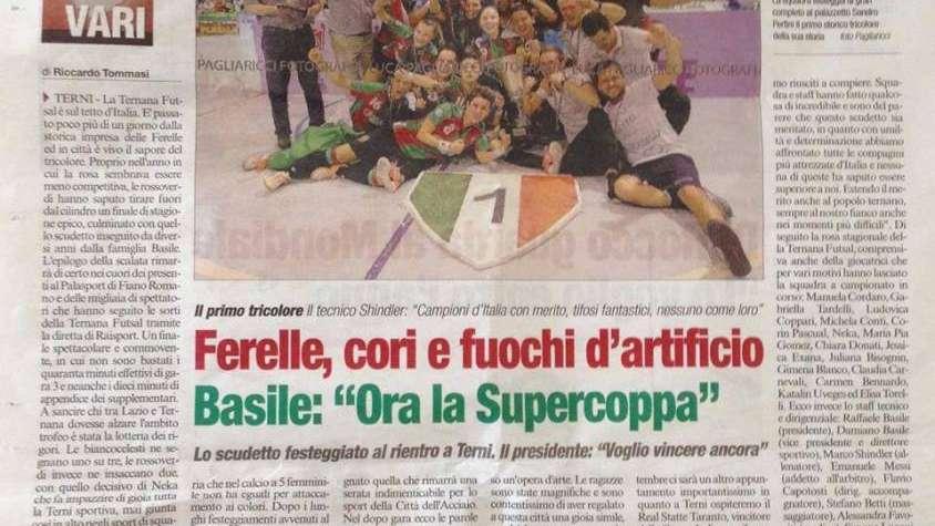 La mendocina Gimena Blanco, única jugadora en ganar cuatro Scudettos de Futsal en Italia