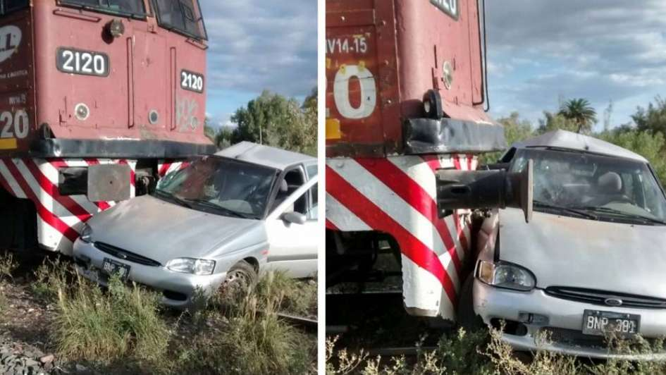 El auto de un sacerdote fue arrollado por un tren en Maipú
