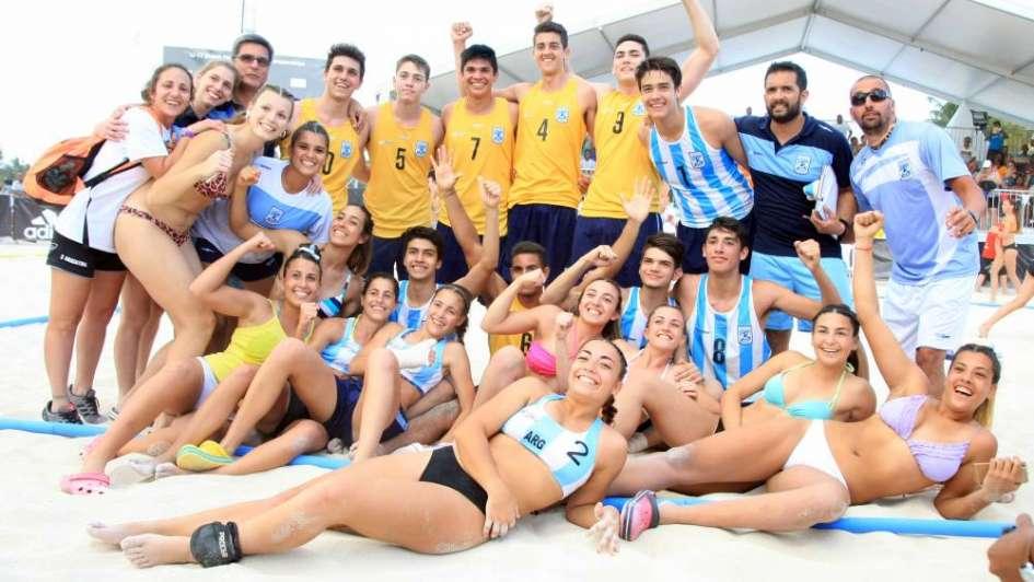 Beach handball: las selecciones de varones y mujeres participarán de los juegos Buenos Aires 2018