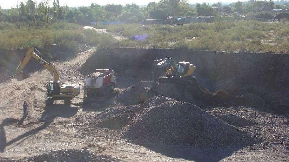 Minería clausuró una cantera clandestina en San Rafael